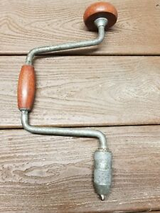 Vintage Hand Drill Wood Tool Tools Woodworking Shop Ebay