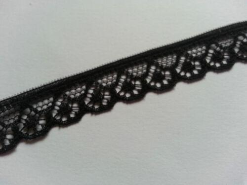 Black Ivory Lace Trim Ten mm Width Choose Either Black or Ivory Choose Length