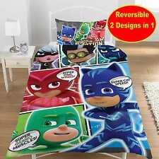 PJ Masks Comic Single Duvet Cover Set Bedding Childrens - 2 Designs in 1