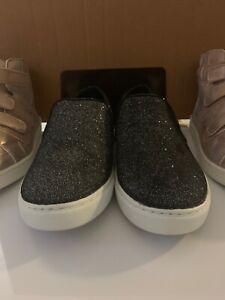 NEW-Brash-Women-039-s-Black-Glitter-Slip-On-Sneaker-Casual-Shoe-Size-11