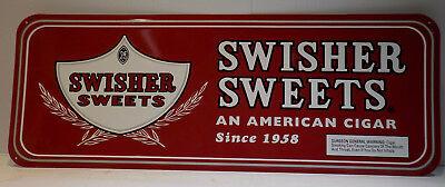 Tobacco Advertising Swisher Sweet Cigar Metal Sign 23 7/8
