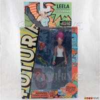 Futurama Leela 2007 Action Figure By Toynami With Robot Devil Part - Worn Box