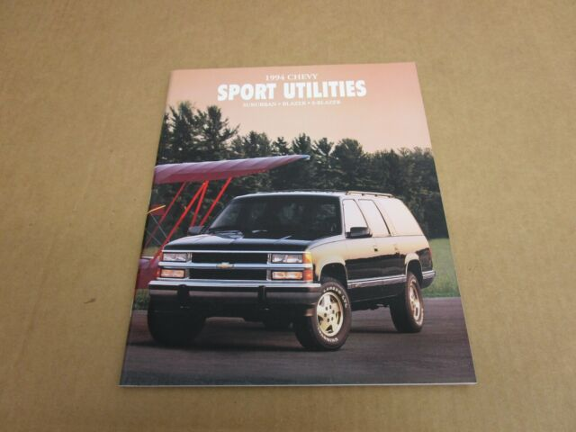 1994 Chevrolet Full Size Blazer Suburban sales brochure literature dealer