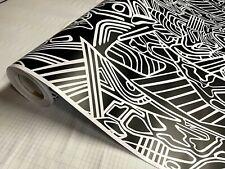 Black Amp White Lines Pattern Matte Vinyl Car Wrap Sheet Free Tools 2 Feet Amp Up