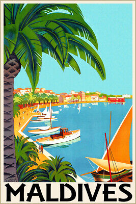 20x30 Golden Mountain Express 1931 Vintage Style Travel Poster Roger Broders