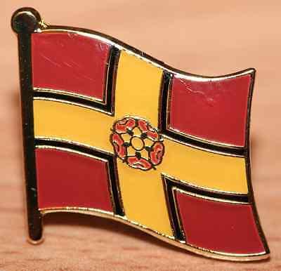 Northamptonshire England County Flag Enamel Pin Badge UK Great Britain