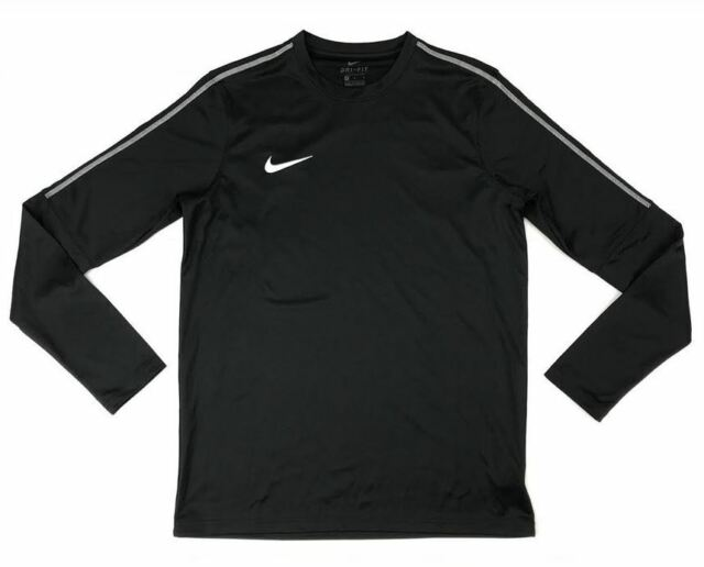 1e346cfb New Nike Park 18 Drill Top Crew LS Soccer Training Shirt Men's M Black  AA2088