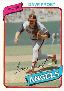 trading card Topps ANGELS  1980 DAVE FROST #423