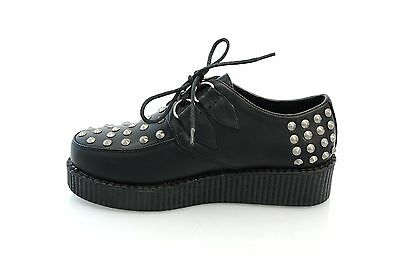 WOMENS LADIES PLATFORM WEDGE LACE UP GOTH PUNK CREEPERS SHOES BOOTS SIZE 3-8