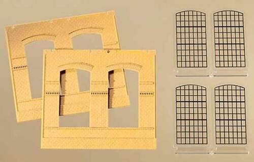 2 muros 2326b Auhagen h0 procesal 80604 amarillo con ventana de industria