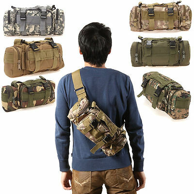 3P Military Assault Combined Backpack Rucksacks Sport Molle Camping Waist Bag