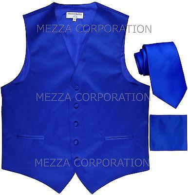 """Nouveau Vesuvio Napoli Men/'s 2.5/"""" Skinny Cravate /& Mouchoir Set bleu turquoise Formal"""