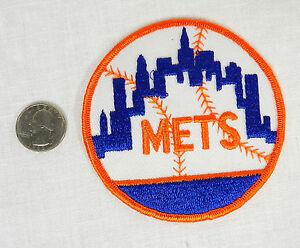 1970's NEW YORK METS BASEBALL PATCH SEW- ON RARE