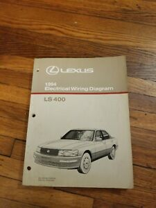 1990 lexus ls400 wiring diagram 1994 lexus ls 400 wiring diagram manual original ls400 electrical  1994 lexus ls 400 wiring diagram manual