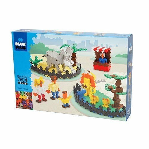 PLUS PLUS 760 Piece ZOO Instructed Set, Puzzle Piece-Shaped Building Toy