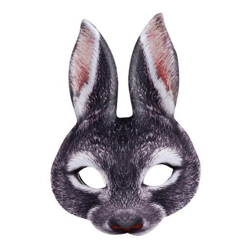 Funny Costume Co Mask-Bunny Rabbit Animal Adult Costume Classic Half Mask Decor
