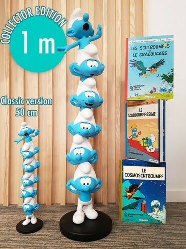 100CM I PUFFI COLUMN XXL ULTRA LIMITED EDITION STATUE 1 MT SMURFS ACCONTO