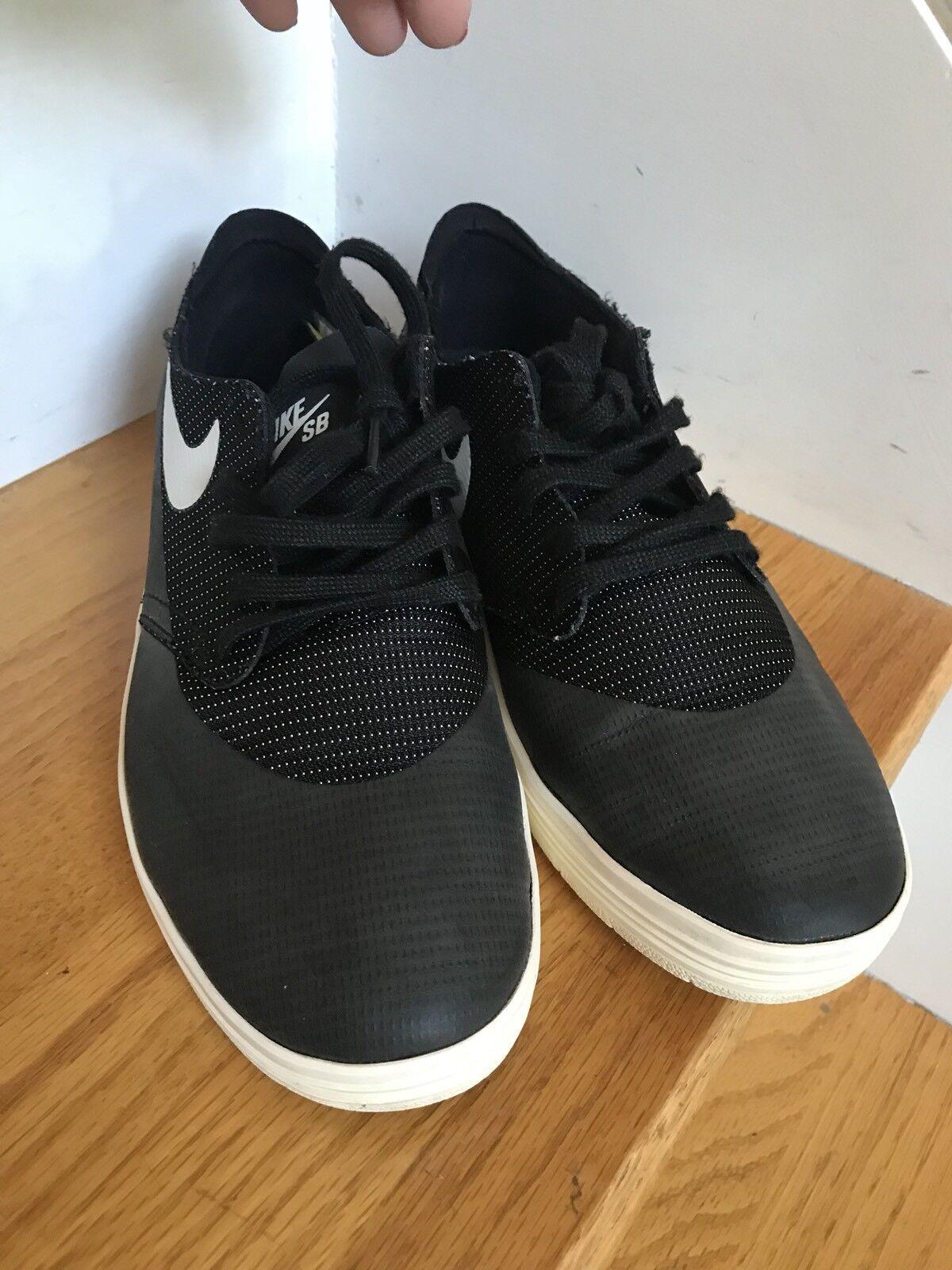 new product 4f60d 174ed ... Mens Nike Lunarlon Shoes 631044-002 Size 6.5M Black Excellent Condition  Condition Condition 7b1844 ...