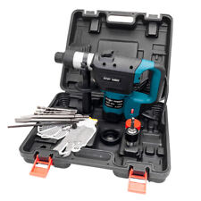 1100w 1 12 Sds Plus Electric Rotary Hammer Drill Set Variable Speed Bit