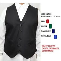 GOOD QUALITY HOSPITALITY WAISTCOAT, WAITERS BAR STAFF WAISTCOAT FANCY DRESS