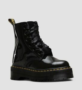 Dr Martens 'Molly' Black Patent Leather