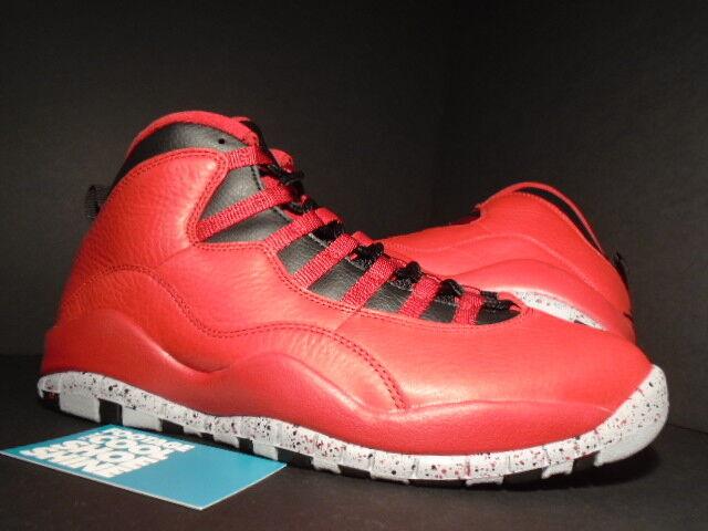 2cfdd411d47e Nike Air Jordan X 10 Retro 30th Bulls Over Broadway Toro Red Black Wolf Grey  9.5
