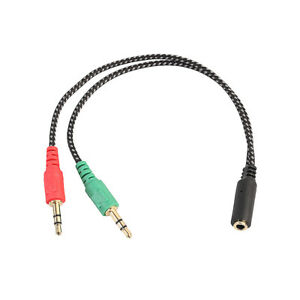 3.5 MM Cavo audio stereo 1 a 2 MASCHIO Donna Y SPLITTER MIC JACK per cuffie  | eBay
