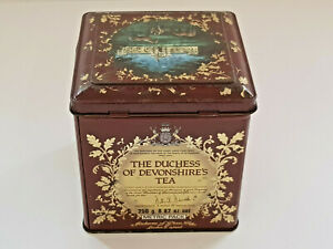Rare-JACKSONS-OF-PICCADILLY-Duchess-Of-Devonshires-Tea-Tin-Box-VGOOD-CONDITION