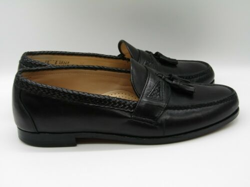 Men's Allen Edmond Maxfield Black Leather Tassel L