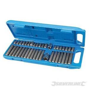Silverline-40-PC-Torx-STAR-Spline-Hex-Allen-Bit-Satz-3-8-Zoll-amp-1-2-Antrieb