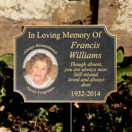 Any Text // Photo Pet Grave Sign Outdoor Photo Memorial Plaque In Memory Sign