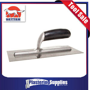 Setter 280mm Plastering Trowel Tradesman Stainless Steel Made in Italy