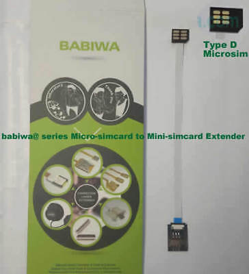 babiwa series No.9 TypeA Microsimcard to Minisimcard Extension Cable