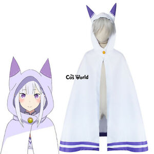 Re Zero Kara Hajimeru Isekai Seikatsu Cat Ear Cloak Capes Anime Cosplay Costumes