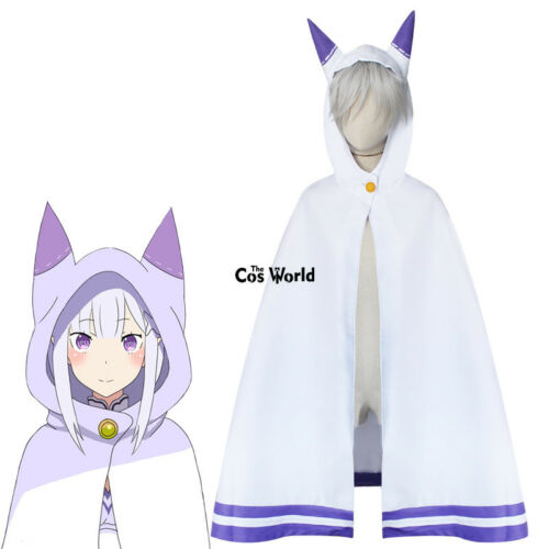 Re Zero Kara Hajimeru Isekai Seikatsu Cat Ear Cloak Capes Anime Cosplay Costumes