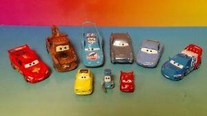 DISNEY-PIXAR-CARS-DIECAST-Lote-de-9-diferentes-vehiculos-Mater-Lightning-Mcqueen-1