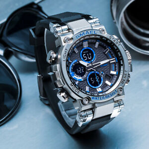 SMAEL-Men-039-s-Date-Military-Quartz-Sport-Digital-Outdoor-Analog-Waterproof-Watch