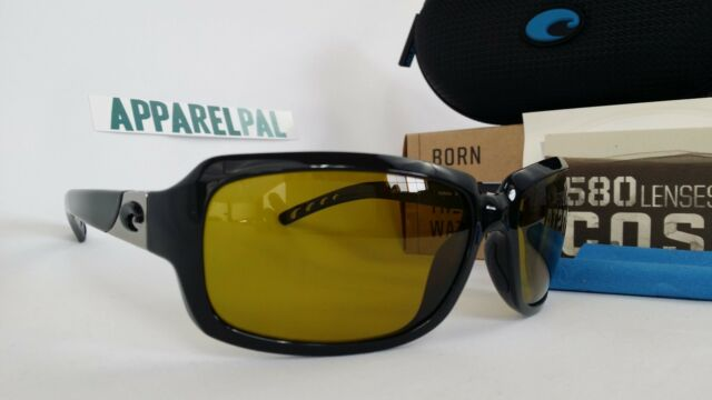 3d744fc4461c6 New Costa del Mar Isabela Polarized Sunglasses Black Sunrise 580 P 580P  Fishing