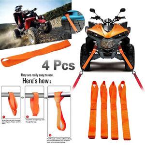 1Pcs Soft Loop Tie Down Straps Ratchet Towing Cargo ATV Motorcycle 600LBS Ora fn