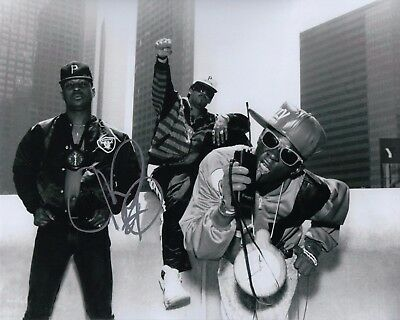 Signed Autographed 8x10 Photo Proof Ad4 Coa Pure White And Translucent Independent Gfa Public Enemy Rapper Chuck D