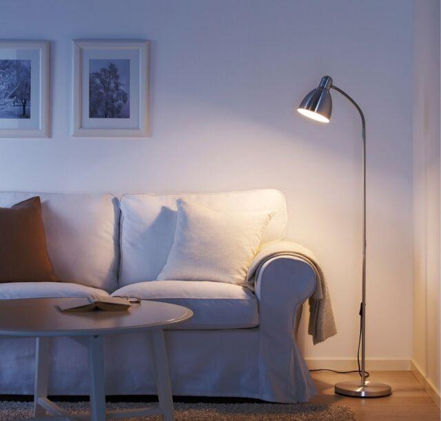 New Lersta LARGE Aluminium Floor Lamp Modern Reading Light Adjustable 131cm Tall