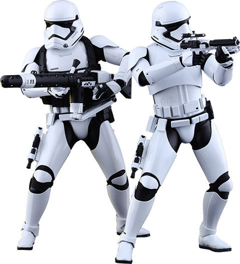 STAR WARS Stormtroopers 'Force Awakens' 1 6th Scale Action Figure Set (Hot Toys)