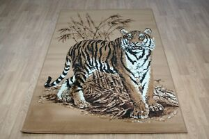 Image Is Loading Quality Large Tiger Print Rug 150cm X 100cm