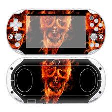 PS VITA 2000 PlayStation Skin Design Foils Aufkleber Schutzfolie - Burning Skull