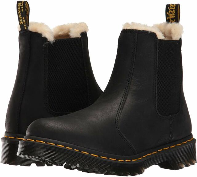 Women's Shoes Dr. Martens 2976 LEONORE Leather Chelsea Boots 21045001 BLACK