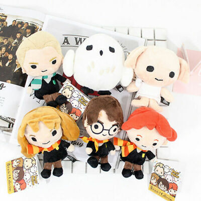 "New 6PCS Set Harry Potter Plush Toy 4-5/"" Collection Doll Gift Harry Hermione Ron"