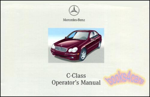 2002 MERCEDES C CLASS OWNERS MANUAL C240 C320 C32 AMG 02 HANDBOOK C 240 320 C 32
