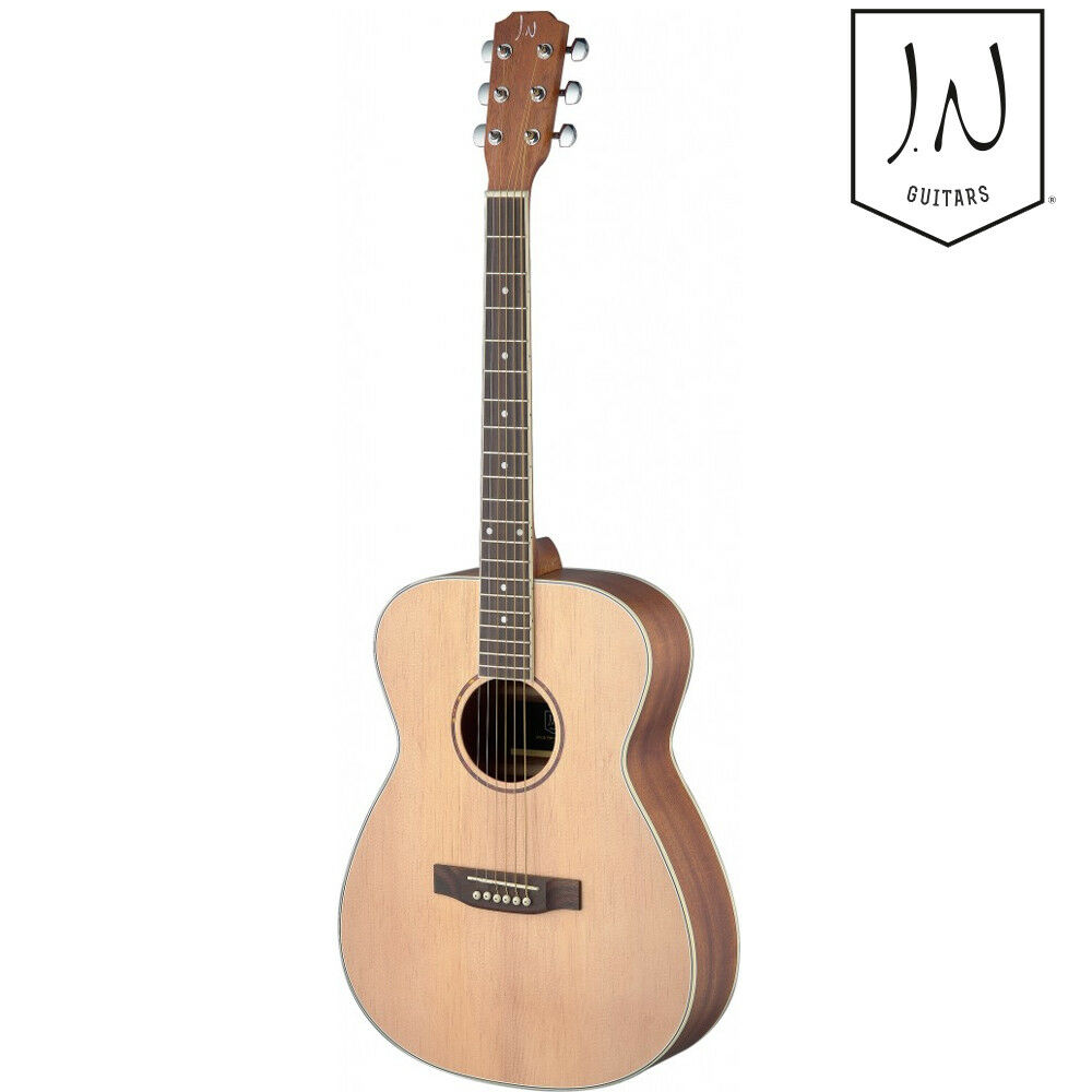 J.N Guitars Asyla Series Left Hand Full Größe Auditorium Acoustic Guitar Natural