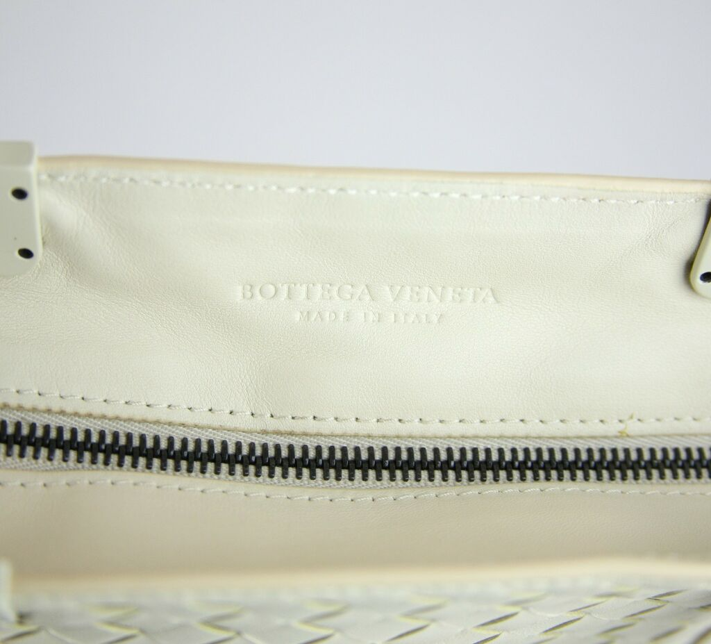 $3570 New Auth BOTTEGA VENETA Leather Woven Large Tote Bag White 314718 9904    eBay
