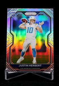 JUSTIN-HERBERT-2020-Panini-Prizm-Football-RC-Silver-325-Los-Angeles-Chargers